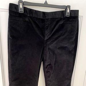 Banana Republic Black Velvet Trousers